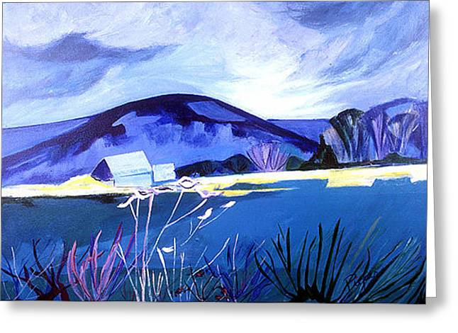 Greeting Card featuring the painting Farm Pond Anywhere U.s.a. by Betty Pieper