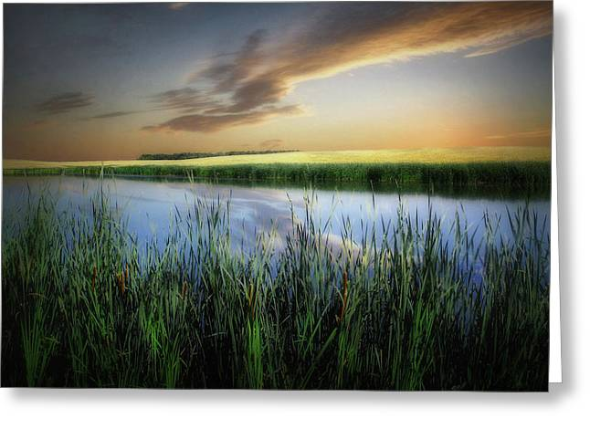 Farm Pond Greeting Card