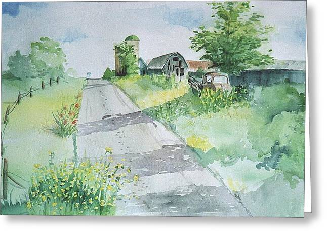 Farm Road Greeting Card
