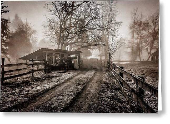 Farm Road Late Autumnl. Greeting Card