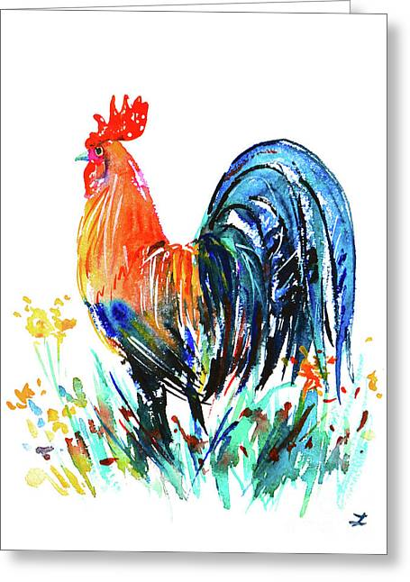 Farm Rooster Greeting Card