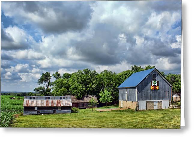 Farm Scene - Barns - Nebraska Greeting Card by Nikolyn McDonald