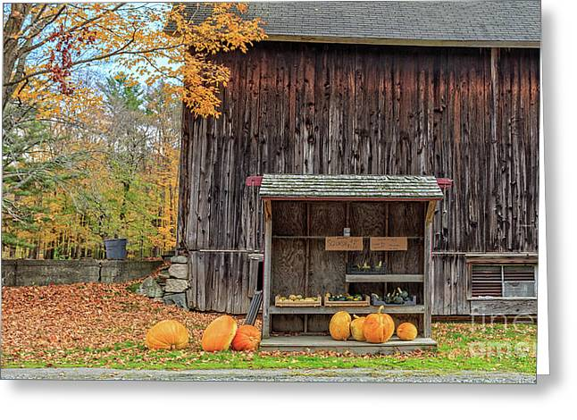 Farm Stand Etna New Hampshire Greeting Card by Edward Fielding