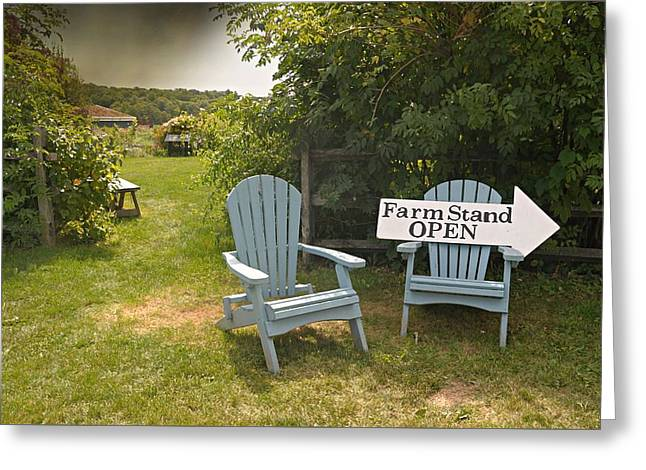 Farm Stand Open Greeting Card