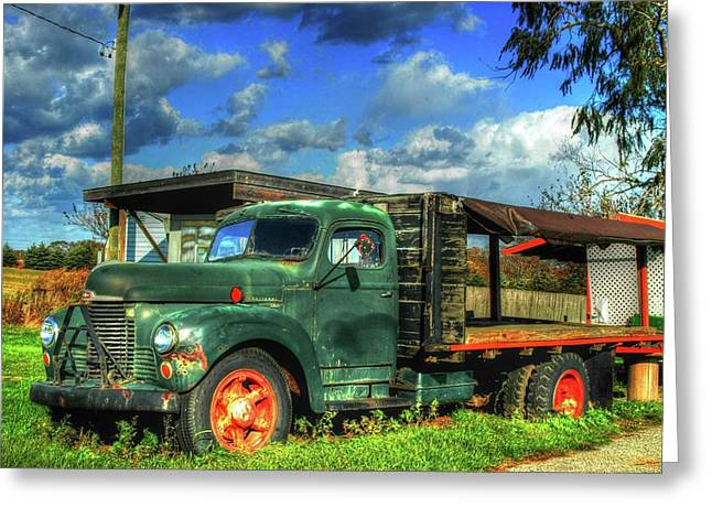 Farm Stand Truck Greeting Card by Terry McCarrick
