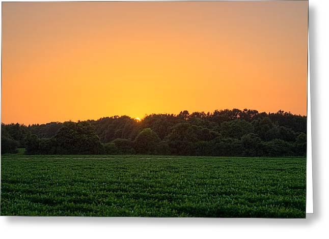Farm Sunset Greeting Card