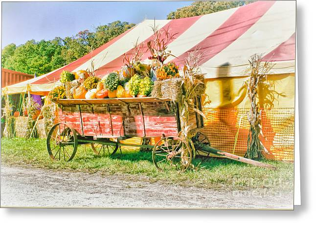 Farm To Market Greeting Card by Robert Frederick