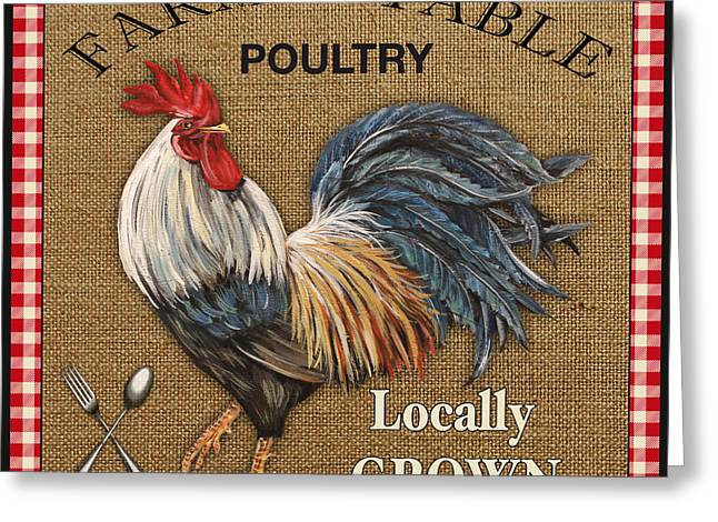 Farm To Table-jp2390 Greeting Card by Jean Plout