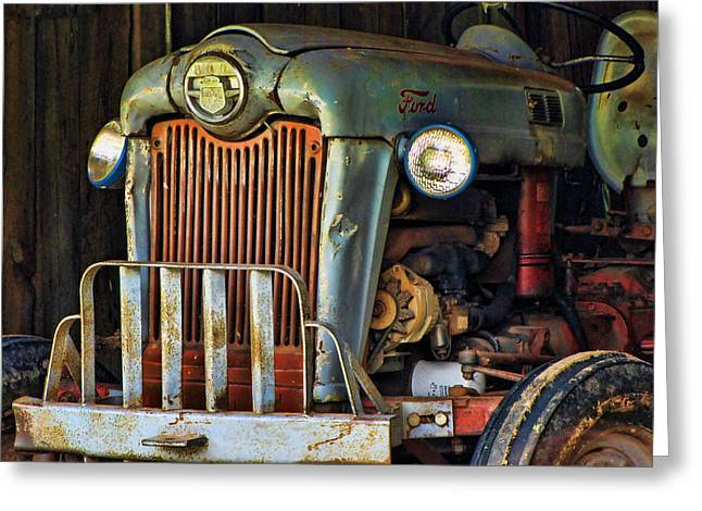 Farm Tractor Two Greeting Card