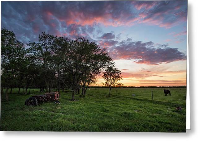 Farm View  Greeting Card