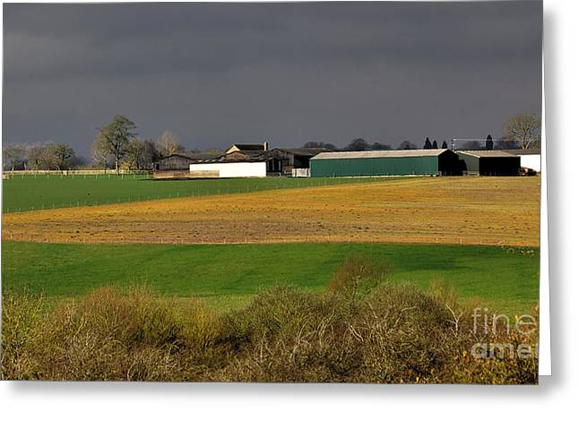 Greeting Card featuring the photograph Farm View by Jeremy Hayden