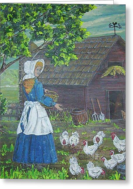 Farm Work I Greeting Card by Phyllis Mae Richardson Fisher
