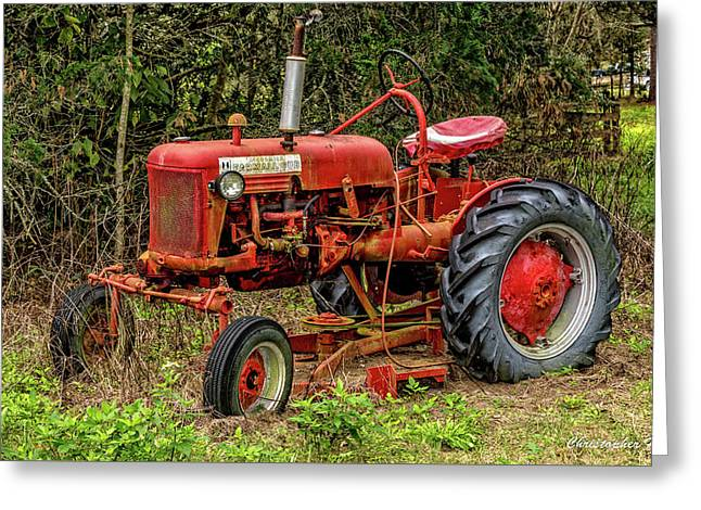 Greeting Card featuring the photograph Farmall Cub by Christopher Holmes