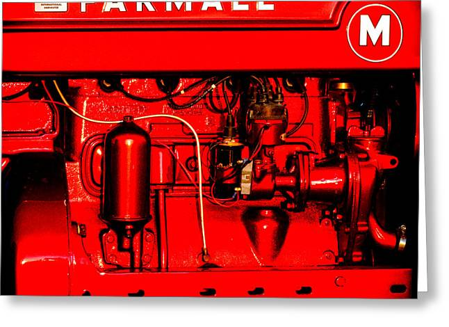 Farmall Engine Detail Greeting Card by Olivier Le Queinec