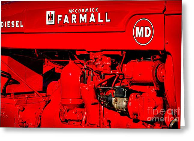 Farmall Md Greeting Card by Olivier Le Queinec