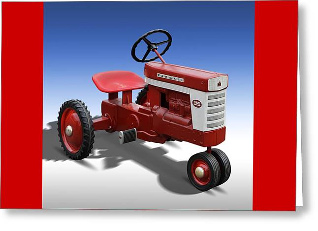 Farmall Peddle Tracter Greeting Card by Mike McGlothlen