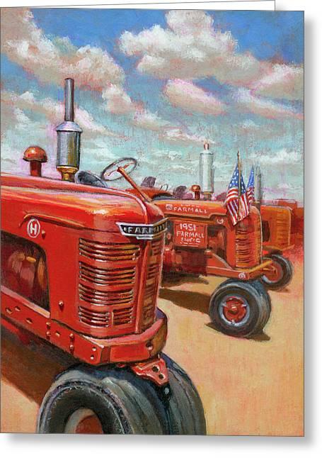 Farmall Tractor Greeting Card