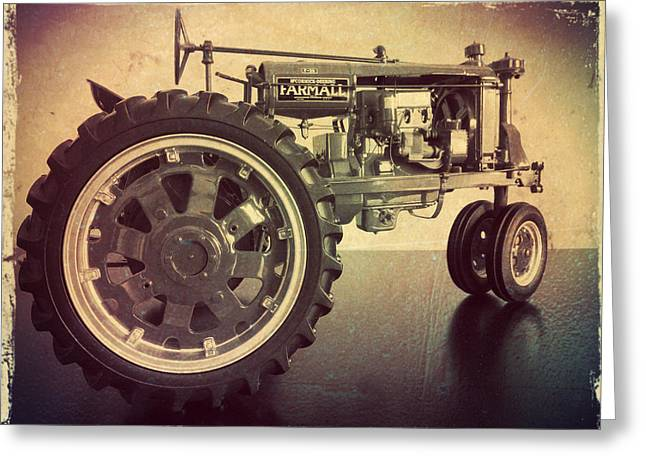 Farmall Tractor Greeting Card by Scott Kingery
