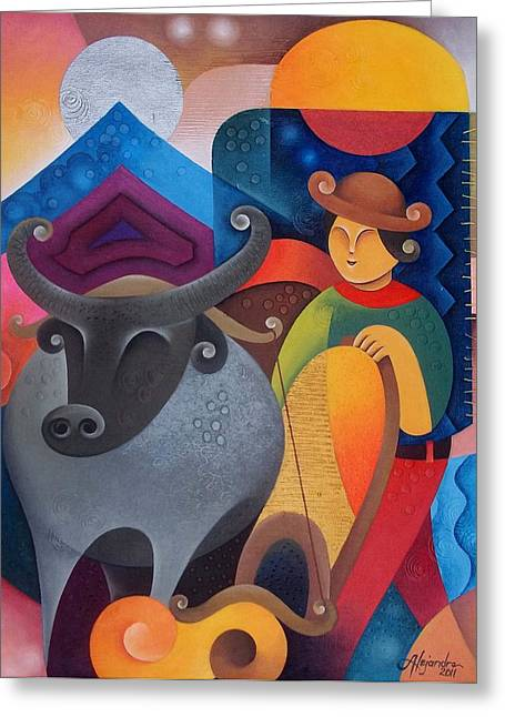 Farmer Greeting Card by Hermel Alejandre