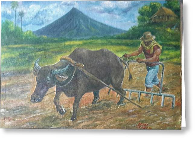 Farmer_2 Greeting Card by Manuel Cadag