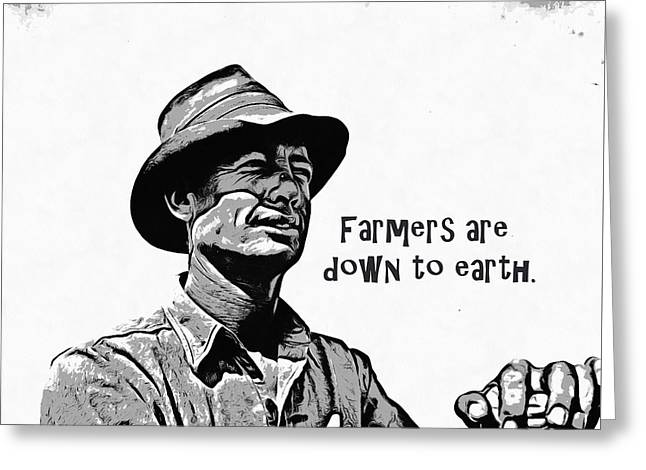 Farmers Are Down To Earth Greeting Card by Edward Fielding