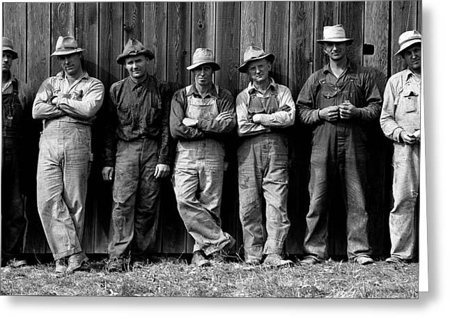 Farmer's Coop Members - Yamhill County Oregon  1939 Greeting Card