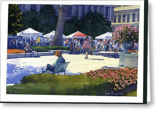 Farmers Market, Madison Greeting Card