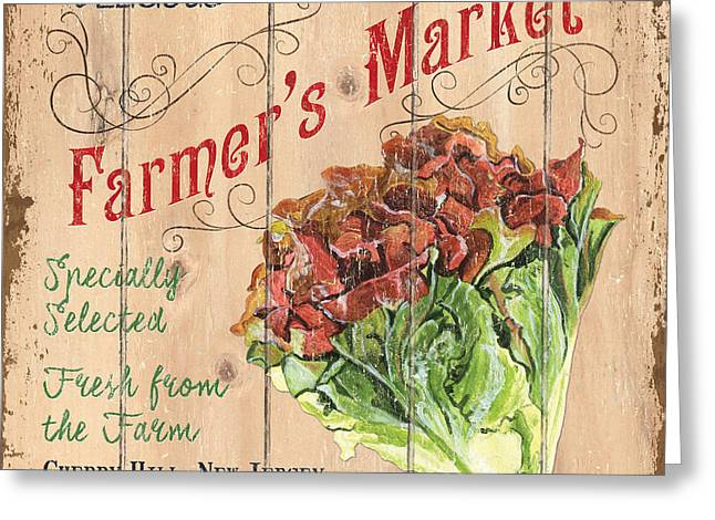 Farmer's Market Sign Greeting Card by Debbie DeWitt