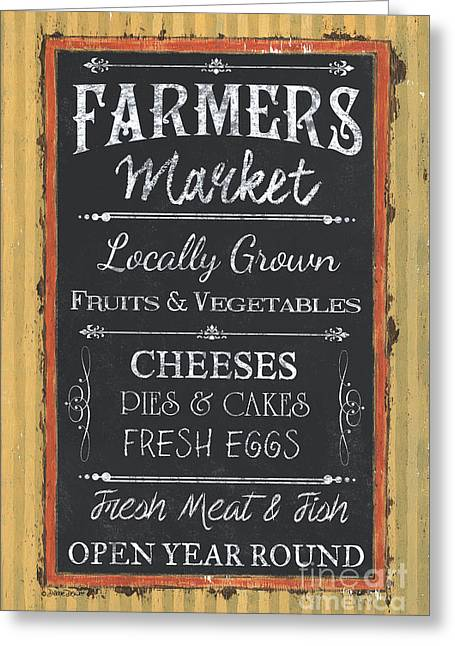 Farmer's Market Signs Greeting Card
