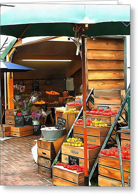 Farmers Market Sussex Greeting Card