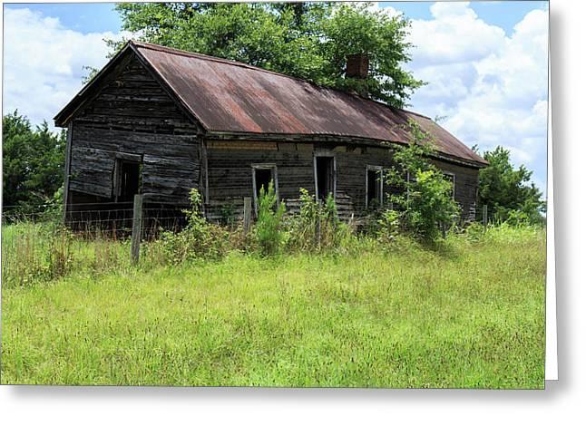 Farmhouse Abandoned Greeting Card