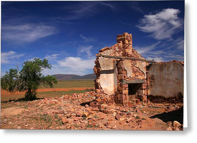 Farmhouse Cottage Ruin Flinders Ranges South Australia Greeting Card by Ralph A  Ledergerber-Photography
