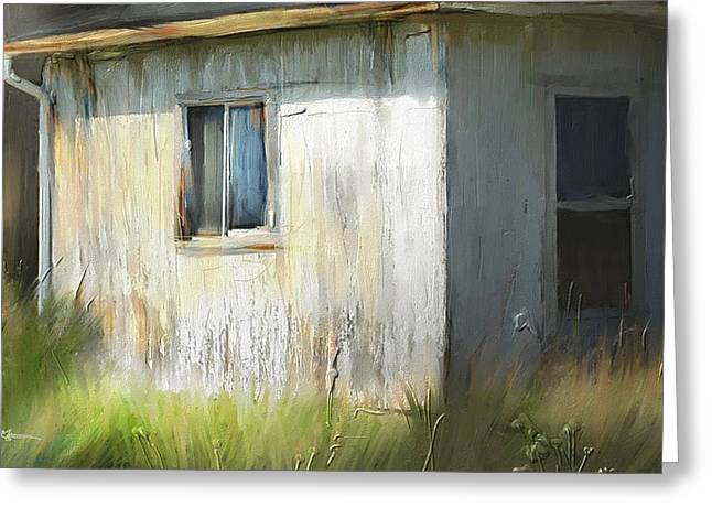 Farmhouse Detail Port Albert Ontario Greeting Card by Bob Salo
