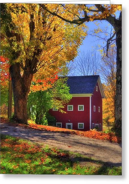 Farmhouse In Autumn - South Royalton, Vt Greeting Card