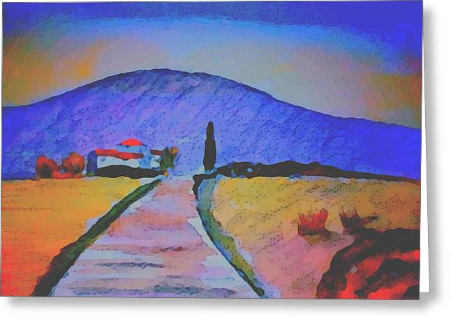 Farmhouse In The Midi Pyrenees Greeting Card by Paul Jarvis