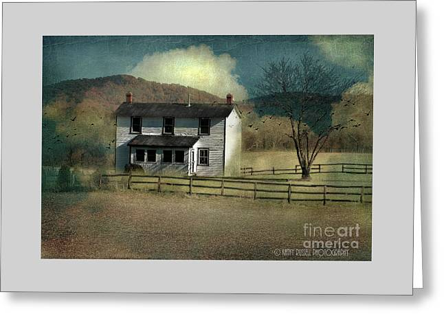 Farmhouse Greeting Card by Kathy Russell
