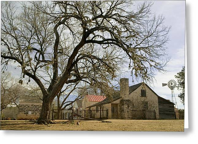Farmhouse On A Landscape, Living Greeting Card by Panoramic Images