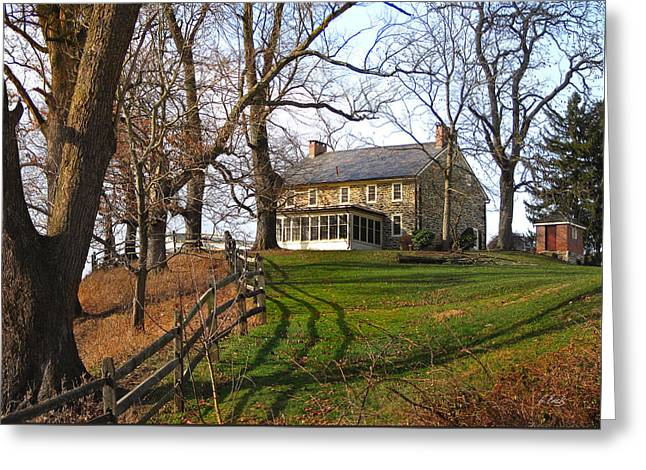 Farmhouse On A Hill Greeting Card