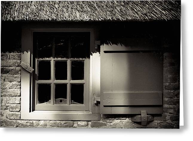 Farmhouse Window Greeting Card by Dave Bowman