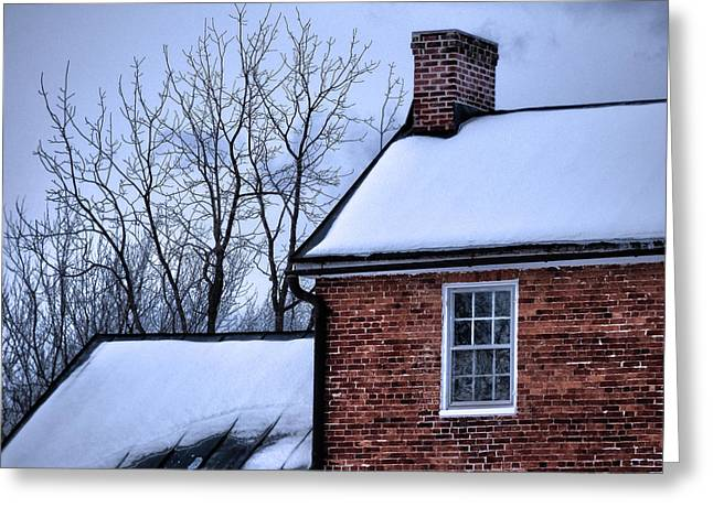 Greeting Card featuring the photograph Farmhouse Window by Robert Geary