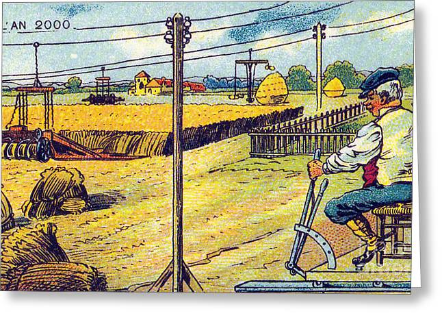 Farming, 1900s French Postcard Greeting Card