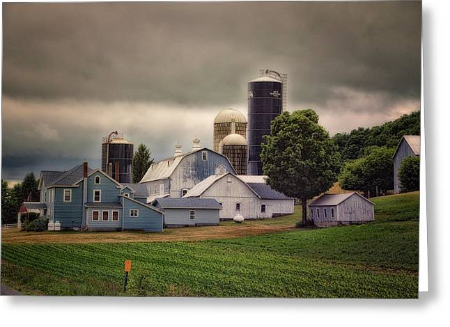 Farming Before The Storm Finger Lakes New York 04 Greeting Card by Thomas Woolworth