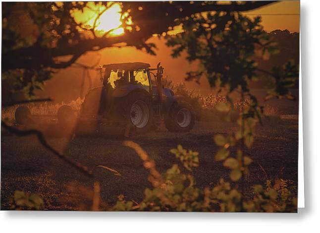 Farming 'till Sundown Greeting Card