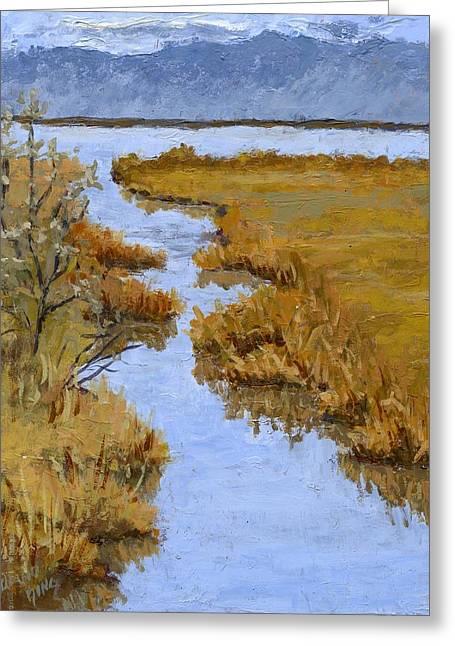Farmington Bay Marsh Greeting Card