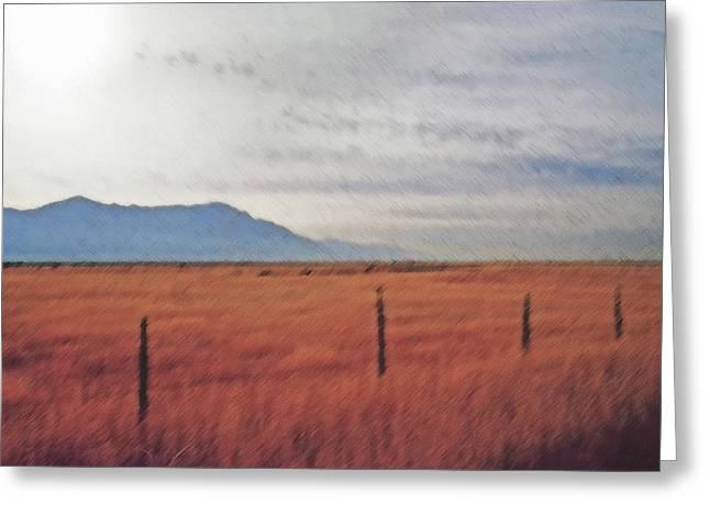 Farmland 1 Greeting Card by Steve Ohlsen