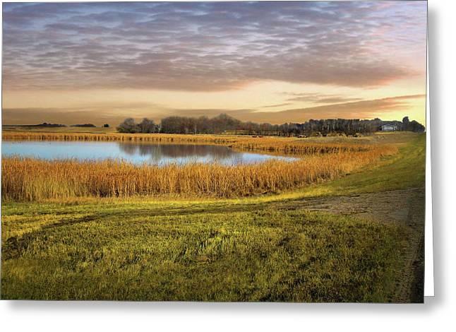 Farmland Pond Greeting Card