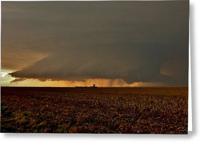 Greeting Card featuring the photograph Farmland Supercell by Ed Sweeney