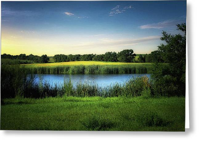 Farmland Waters Greeting Card