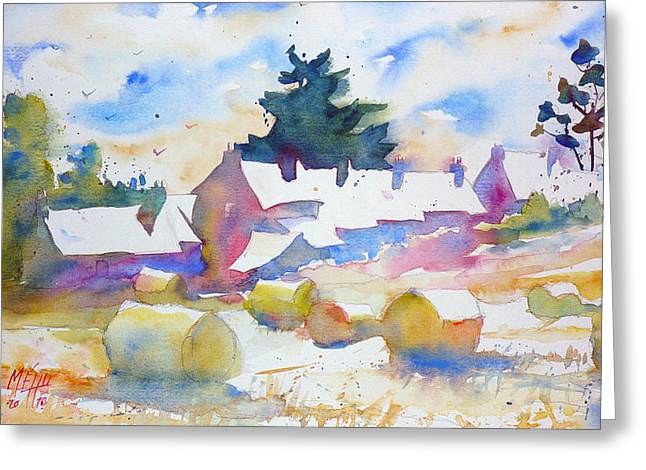 Farms   Isle Of Groix   Brittany Greeting Card by Andre MEHU