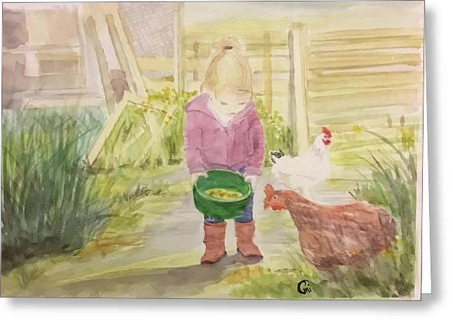 Farm's Life  Greeting Card by Annie Poitras